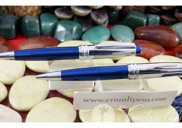BALLPOINT PEN + MECHANICAL PENCIL CROSS BAILEY CROME BLUE