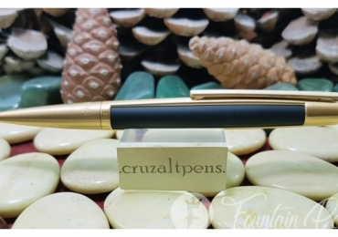 BALLPOINT PEN S. T. DUPONT DEFI BRUSHED GOLD