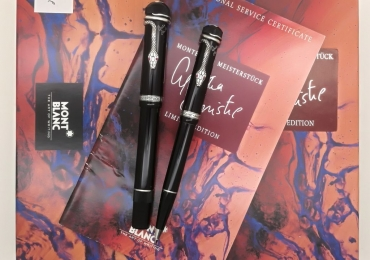 Beautiful Agatha Christie Set FP+MP 1993 – M nib full box and papers fountain