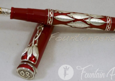 OMAS Fountain Pen Mandela 80 Silver-Maroon Limited Edition 1014/1600
