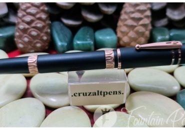 FOUNTAIN PEN NETTUNO 1911 NINETEEN-ELEVEN BLACK SAND ROSE GOLD