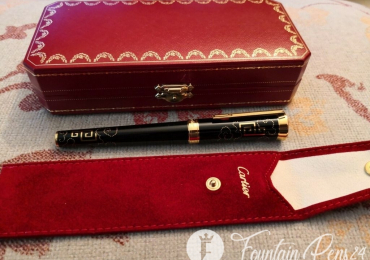 CARTIER EXCEPTIONAL CHINA INSPIRATION Art Deco Solig Gold 18k 750 Fountain Pen Limited Edition only 888 Ud